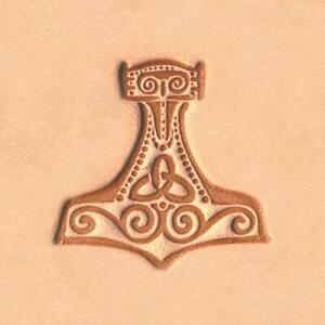 Ivan 2D Leather Stamp - Mjolnir/Thor's Hammer  (8676-00)