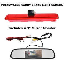 Volkswagen VW Caddy Van Reversing High Level Brake Light Camera & Mirror Monitor