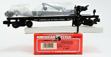 AMERICAN FLYER S SCALE 49009 AFL FLAT CAR WITH DERRICK #49009