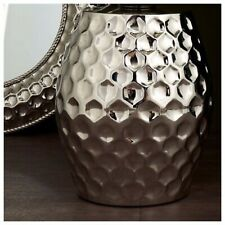 Silver Chrome Hammered Ajmer Nickel Finish Lamp  Side Table Was £210 Now £49