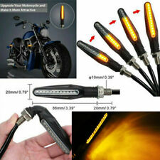 4X Universal 12 LED Motorcycle Flowing Turn Signal Indicator Blinker Light Amber