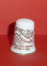 RYEDALE Folk Museum HUTTON - LE - HOLE Thimble in Gold Yorkshire by North Lodge