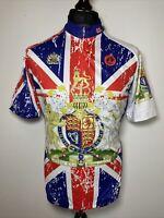 Weimo Star Le Tour De France Union Jack Flag Crest Cycling Jersey Shirt XL BNWT
