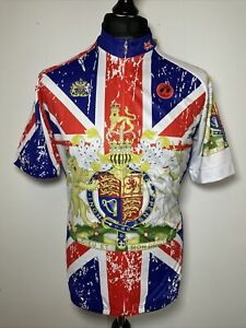Weimo Star Le Tour De France Union Jack Flag Crest Jersey Cycling Shirt XL BNWT