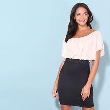 KRISP Ladies Oversized Batwing Chiffon Mini Pencil Dress Office Workwear Skirt