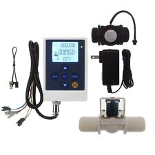 "Water Flow Control LCD Display+G1""Flow Sensor Meter+G1""Solenoid Valve Android PI"