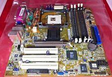 Retro Gaming ASUS P4SGX-MX Rev 2.0 mPGA478B Socket 478 Motherboard W/ IO Shield