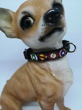 "XXX SMALL DOG COLLAR 6""-8"" NECK.  Micro dog, T Cup.  SUPERHERO"
