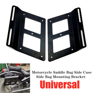 Universal Motocross Motorcycle Saddle Support Guards Side Bag Mounting Bracket