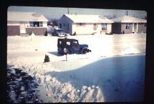 1960 Jeep CJ3B Side Mount Spare Tire 35mm slides amateur lot 2 Kodachrome Snow