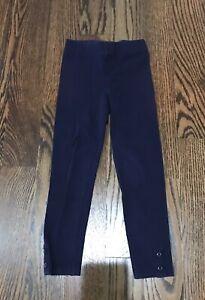Gymboree Girls Navy Blue Leggings w/ Buttons on bottom  - Size 5
