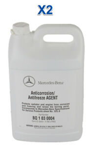 2 Gallon Engine Coolant/Antifreeze OEM Mercedes Benz BLUE Concentrated BQ1030004
