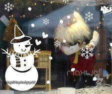 Large Christmas Snowman Snowflake Santa Wall Decal Vinyl Window Sticker Kids Art