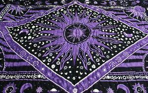 New Indian Cotton Handmade Ethnic Mandala Winter Reversible Blanket Quilt Razai