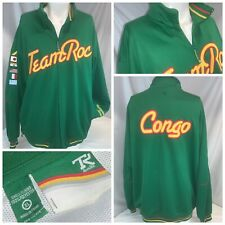 Rocawear Team Roc Congo Soccer Warmup Jacket XL Men Green Zip Stitch YGI J0-99