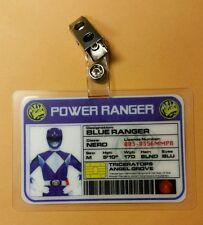 Power Rangers Identificación Badge-Blue Ranger Disfraz para Cosplay