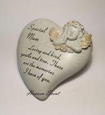 Memorial pour maman cherub en forme de Coeur Décoration Funéraire grave