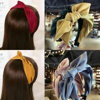 Women Girl's Hairband Hair Band Wide Bow Knot Headband Hair Hoop Accessories_UK