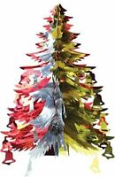 37cm Foil Tree Hanging Decoration Festive Xmas Wall Tree Ceiling Party Pull Out