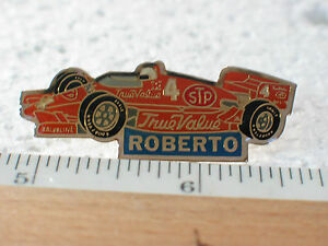 Roberto  Indy Car Driver Racing Pin True Value STP #4 F1 Vintage Collectible