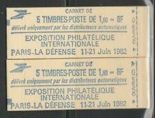 FRANCE paire carnets SABINE 2155c1 et 2155c1a  neufs**