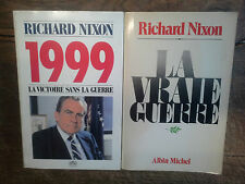lot de 2 livres de Richard Nixon 1999 la victoire sans guerre + la vraie guerre