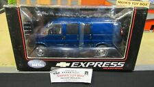 HWY 61 DCP BLUE CHEVROLET CHEVY EXPRESS CARGO DELIVERY VAN TRUCK 1:25 1:24 /CL