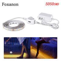 Led Pir Sensor Strip Motion Activated Bed 5050 2835 Light Warm White EU/US Power