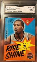 Kawhi Leonard Rookie Card 2012 Panini Past And Present Rise & Shine Gem Mint 10