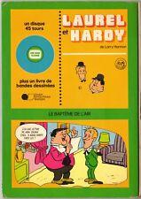 """LAUREL ET HARDY """"LE BAPTEME DE L' AIR"""" LIVRE-DISQUE SP JUNIOR PROD 5844"""
