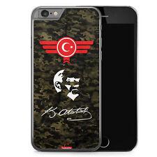 iPhone 6 6s Hard Case Hülle - Atatürk Türkiye Türkei Camouflage Motiv Design Mi