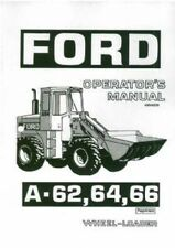Ford Wheel Loader A62 A64 A66 Operators Manual