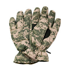 Army Digital Camo Thermal Insulated Gloves By Rothco 4955 - FREE SHIPPING