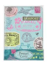 Lovely Retro Travel Design Passport Cover and 2 Matching Luggage Tags