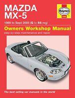 Haynes Manual Mazda MX-5 UK Models Eunos MX5 MkI & MkII 1989-2005 NEW 5565