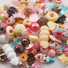 Lot 30 Assorted DIY Craft supply Resin Flatbacks Cabochon Sweet Grab Bag Kawaii