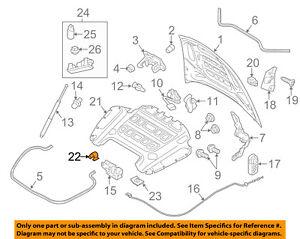 PORSCHE OEM 10-16 Panamera Hood-Insulator Pad Clip 9555567610001C
