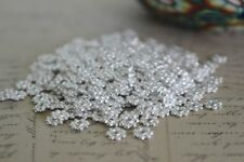 200 pce Bright Silver Tone Metal Daisy Spacer Beads 6mm Jewellery Making Craft
