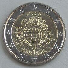 2 Euro Belgien 2012 10 Jahre Euro unz