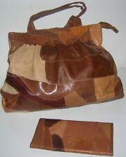 New Genuine leather shoulder bag /Hand Bag & matching wallet earth tones