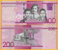 Dominican Republic 200 Pesos Dominicanos p-191 2017(2019) UNC Banknote