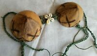 Papua New Guinea - Adornment Coconut  Bra with Cowrie Shells-Vintage Coconut Bra