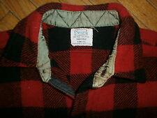 vtg SEARS RED & BLACK CHECK PLAID SHIRT Wool Flannel Lumberjack Grunge Hunting