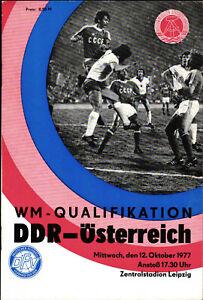 Länderspiel 12.10.1977 DDR - Österreich in Leipzig, WM-Qualifikation