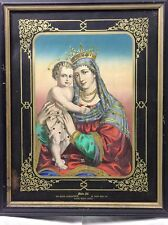 RARE PRINT MARY W CROWN INFANT JESUS Lady of Perpetual Help St Mary Help Us