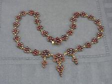 schönes altes Granat -Collier Gold-Doublé ca.um 1860