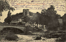 Grane Drôme Francia 1904 Pont et Ruines du donjon andato dopo Wingen