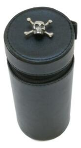 Skull & Cross Shooting Peg Position Finder Numbered Cups 1-10 Leather Case 415