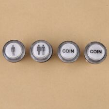 4PC LED Arcade Start Push Button Kit 1 Player +2 Player + LED Coin Button 12V TW