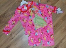 NWT Girls Disney Princess 2 pc Shirt & Pants Pajamas Set ~ Pink ~ Soft ~ Sz 4